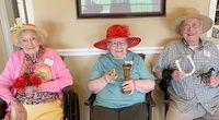 A WINNING DAY AT THE (PARK TERRACE ASSISTED LIVING) TRACK – Winners for this year's Derby Day festivities at Park Terrace Assisted Living in South Fulton included, left to right, Naomi Fuller, Thelma Linder and Raymond Beach. (Photo submitted.)