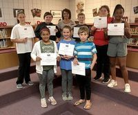 HICKMAN COUNTY ELEMENTARY TOP STUDENTS – Hickman County Elementary School recently recognized its Students of the Month for May. The character trait emphasized in May was You Control Your Own Future. Intermediate students recognized by teachers as HCES Students of the Month include, front row, left to right, Yeraldine Sauceda, Macy Howell, Gage Bullington; back row, Anya Dodson, Hunter Phipps, Tonya Brockwell, James Clark, Abbey Bellew, and Quantaja Robinson. Not pictured are Aidan Newton, Katelynn Johnson, and Blythe Armbruster. Mrs. Brockwell is retiring at the end of the school year after more than two decades as the HCES guidance counselor. (Photo submitted)