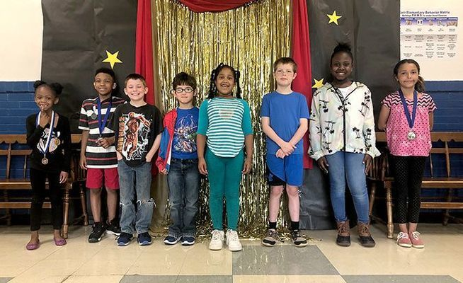 Kindness Award winners at Fulton's Carr Elementary School.