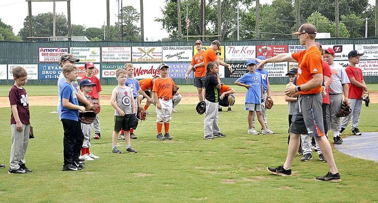 The Fulton Railroaders hosted their annual baseball camp at Fulton's Lohaus Field this morning with a record number of youth in attendance.