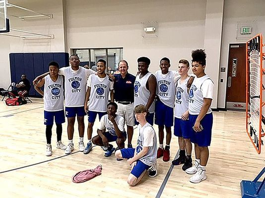 Fulton High School Bulldogs' boys' basketball team participants in Oxford, Mississippi basketball camp