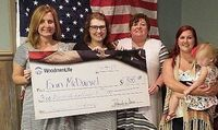 WOODMENLIFE SCHOLARSHIP PRESENTED TO SFHS GRADUATE – Woodmenlife Chapter 4, recently presented a $500 Scholarship to South Fulton Senior and member of the SFHS Class of 2019 Erin McDaniel, second from left. Also pictured are, left to right, Suzanna Meadows, her mother; Woodmenlife Rep. Angie Lattus; and Chapter President Nicole Young and her daughter Adeline Young. (Photo submitted)