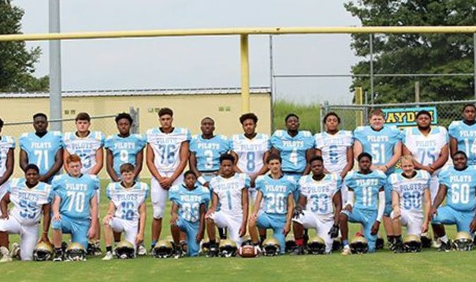 The 2019 Fulton County High School Pilots' football team