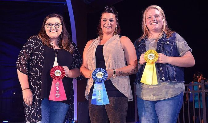 FULTON'S GOT TALENT WINNERS-- Tabitha LeCornu of Union City was the winner of this year's Banana Festival Fulton's Got Talent competition held Sept. 19. Pictured with LeCornu, center, are second place winner Madison Scott at left and third place winner Saracathryn Hedgepath. LeCornu will open for headliner Exile Sept. 21.