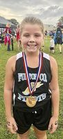 ELEMENTARY RUNNER – Chole McClure of Fulton County placed 5th in the Calloway County Invitational Elementary Mixed 1600 Meter Run held Sept. 8. (Photo submitted)