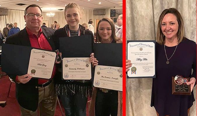TWO SOUTH FULTON EDUCATORS, STUDENTS, HONORED BY VFW