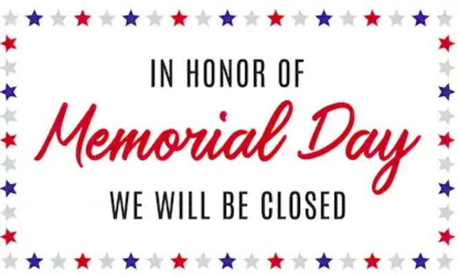 THE OFFICE OF THE CURRENT, 214 MAIN ST., FULTON, WILL BE CLOSED MON., MAY 25. WE WILL REOPEN TUES., MAY 26 AT 9 A.M.