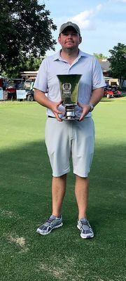 KEN-TENN CROWN – John Slayton, from Jackson, Tenn. was the overall winner of the 80th annual Jasper Vowell Ken-Tenn Golf Tournament. Slayton played college golf for the University of Tennessee at Martin. (Photo submitted)