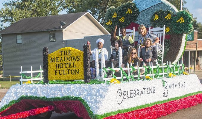 The Meadows Hotel won the top overall prize for their float entry in this year's Banana Festival grand parade Sept. 15.