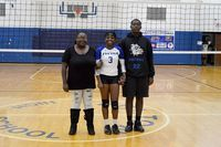 Senior Kyiesha Everett was escorted by her mother, Jessica Johnson and Deontae King. (Photo by Benita Fuzzell)