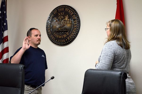 South Fulton resident Cody Caksackkar, who resides in Ward 4, was sworn into office Oct. 1, appointed following the resignation of Commissioner Billy Williams. (Photo by Benita Fuzzell)