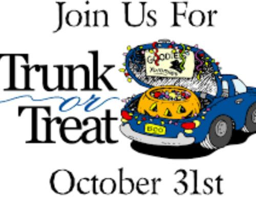 FREE SET UP IN SOUTH FULTON'S UNITY PARK FOR TRUNK OR TREAT STATIONS OCT. 31...CALL TO RESERVE SPACE!