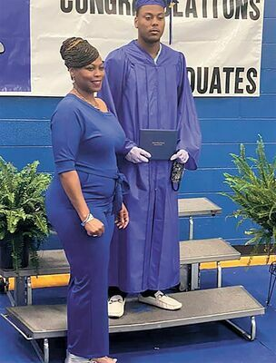 """VIRTUALLY GRADUATING – Fulton Independent High School seniors, as featured in the June 3 edition of The Current, were provided with individualized """"virtual"""" graduation exercises, with students scheduled for a specific time to arrive at the gym, with immediate family members."""