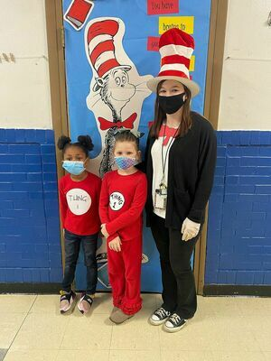 Students and staff at Fulton's Carr Elementary last week dressed as Dr. Seuss characters during Read Across America Week.