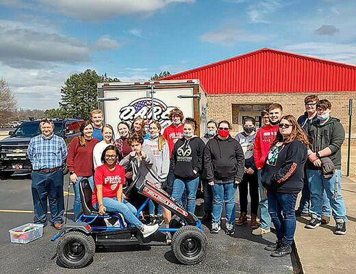 Obion County Sheriff's Deputies conducted a demonstration to SFHS students on the effects of DUI. (Photo submitted)