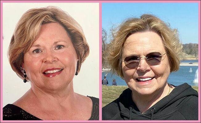 Brenda Mahan, circa 2001 and in 2020.