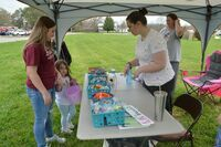 South Fulton's Cumberland Presbyterian Church gave away prizes and candy to children in attendance for the City of South Fulton' annual community egg hunt on Saturday.