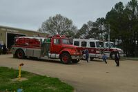 South Fulton's Fire Department offered an up close view of their fire trucks to children who attended the Easter Egg Hunt.