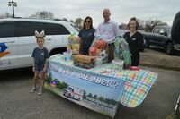 Ken-Tenn EMS Staff displayed give-away prizes during a sign-up opportunity for those in attendance at the South Fulton Municipal Complex Easter Egg Hunt for the community March 27.