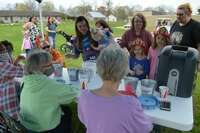 Members of the South Fulton Parks and Recreation Board provided a registration table for families, which also made each hunter eligible for a prize drawing.