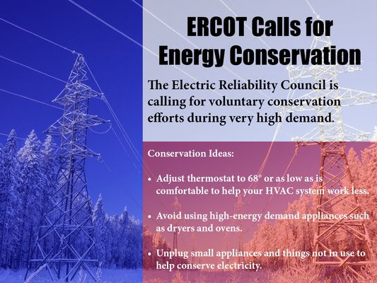 Do you follow usage reduction guidelines power companies request to conserve electricity main