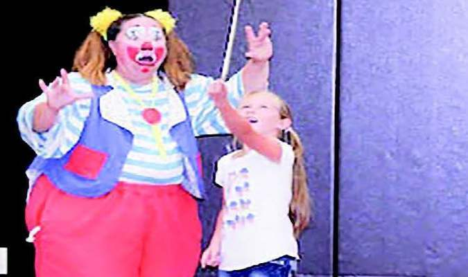 GRAND SALINE--Culpepper & Merriweather's Skeeter the Clown, visits schools, and Country Trails Wellness & Rehabilitation Center to get them excited for the upcoming Circus that is coming to Grand Saline, October 22. The circus is Sponsored by the Grand Saline Chamber of Commerce. Show times are 2:00 & 4:30. Tickets can be purchased from the Chamber, Salt Palace, and Banks around town. You can also purchase from the Grand Saline Sun. $10 Adults and $7.00 Kids.