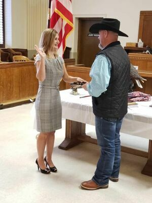 Misty Stanberry was sworn in as Van Zandt County Tax Assessor-Collector January 1.