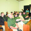 A full house of sheriff's office employees gathered for the commissioners' court meeting.