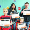 Indian Awards for December.  Back row:  Diana Pedroza and Luke Frame.  In front, Corbin Parrot and Brooklyn Malone.