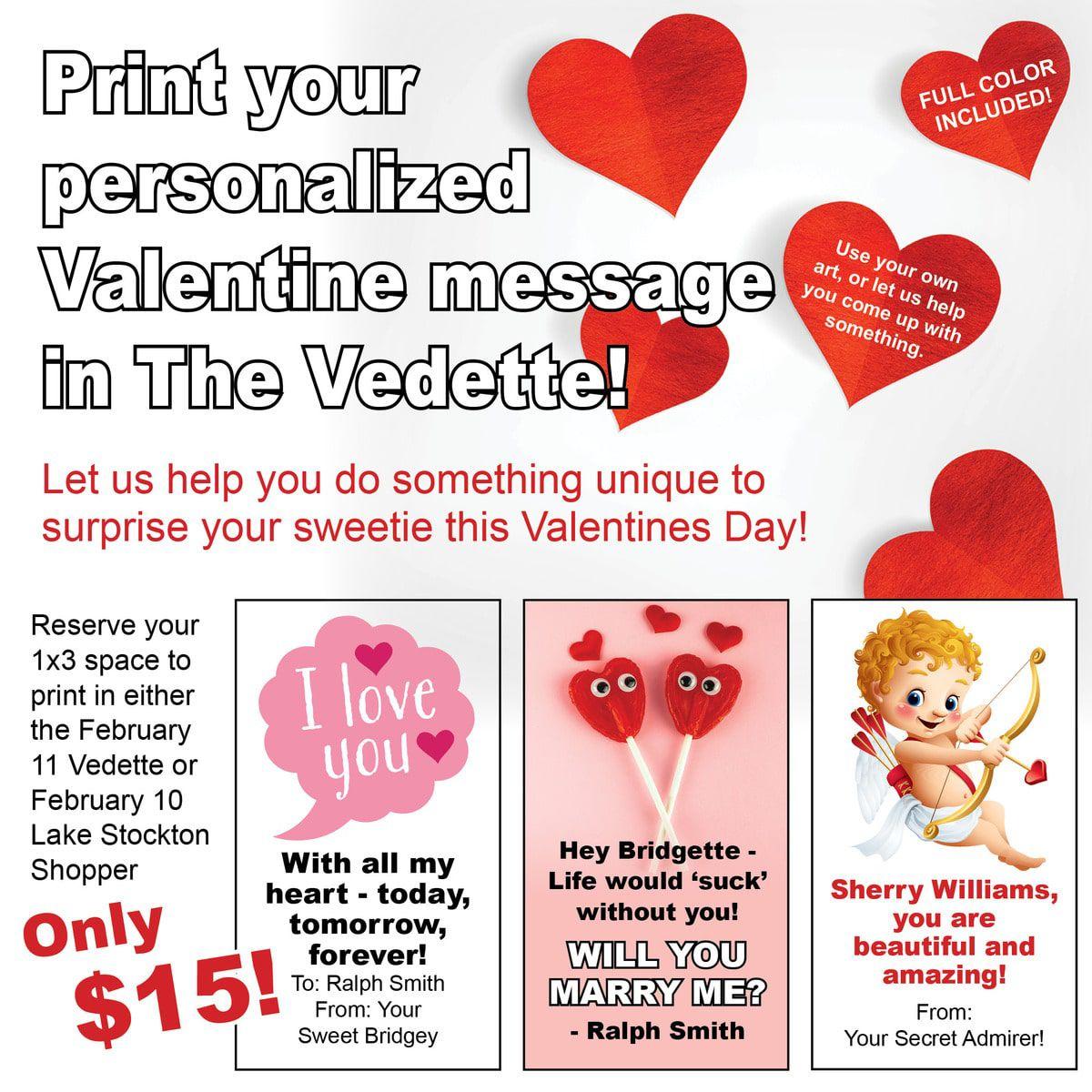 Vedette Valentine Promo