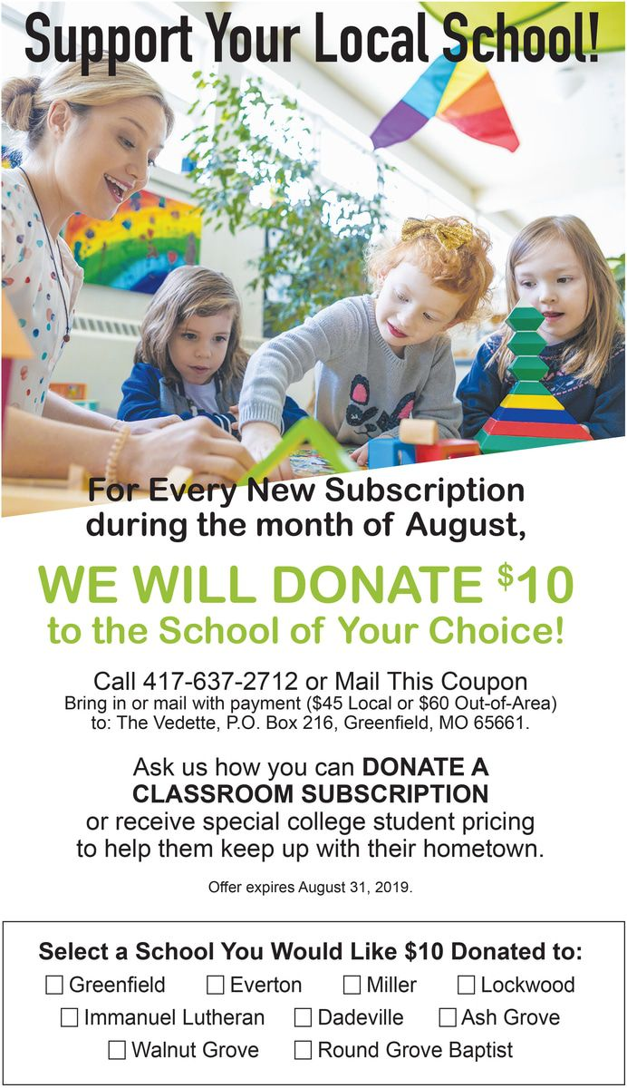 Back to School Subscription Drive