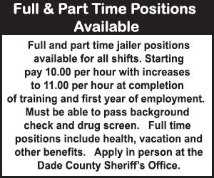 Dade County Sheriff Help Wanted