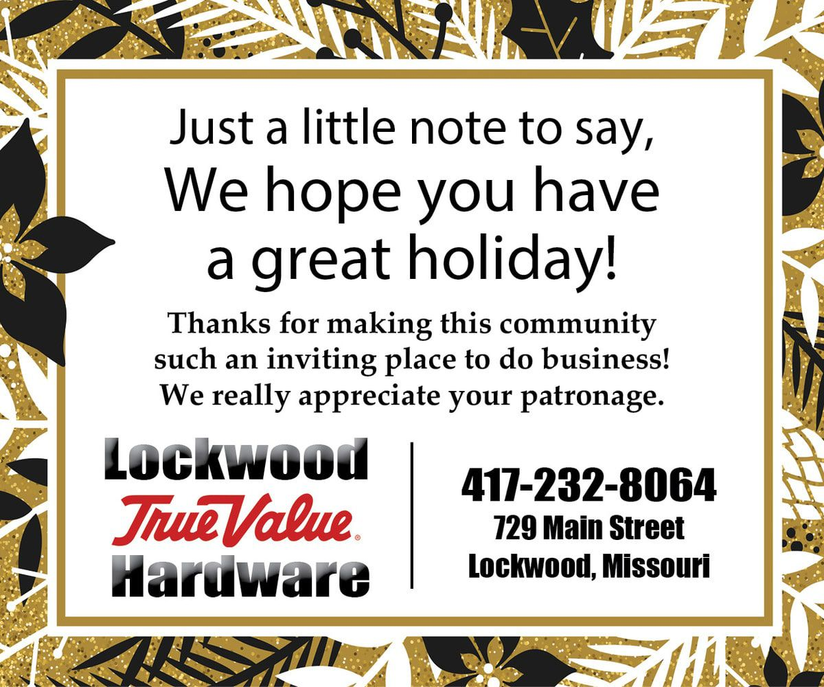 Lockwood True Value Greeting 2019