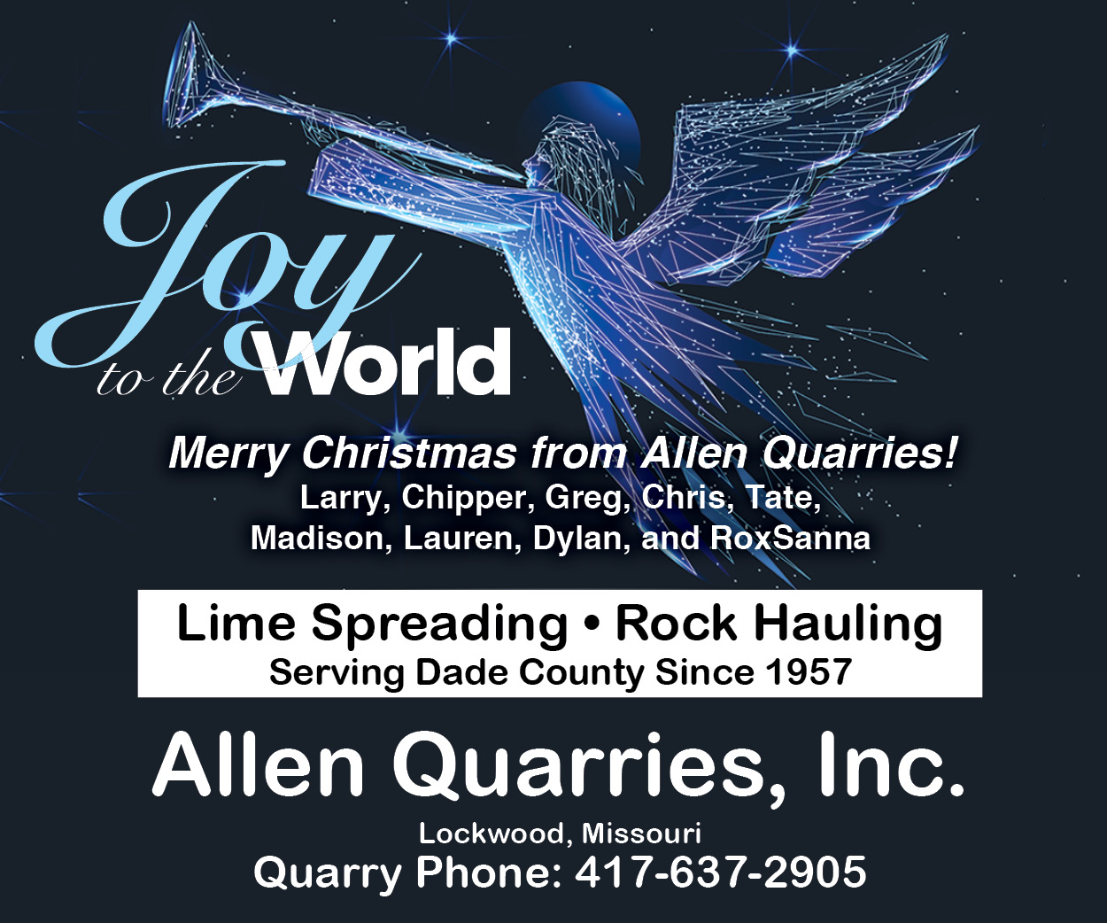 Allen Quarries Greeting 2019