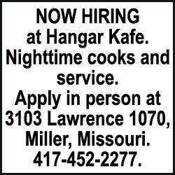 Help Wanted Hangar Kafe
