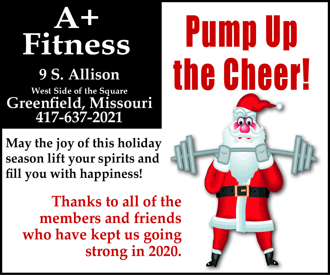 A+ Fitness Christmas Greetings 2010