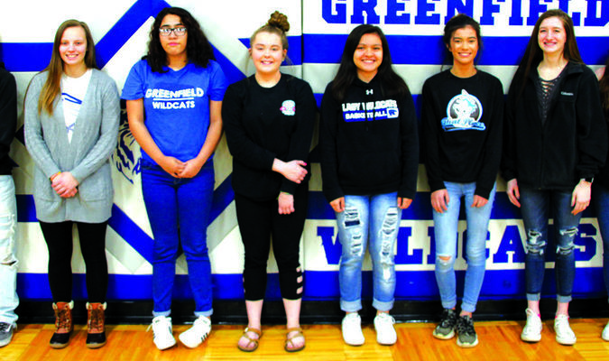 Left to right: Blade Welch, Autumn Phillips, Susana Trujillo, Taylar Morrow, Kiarra Mai, Princess McCoy, Lauren Jones and Harley Stapp.