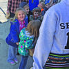 Elementary students Zoe Terry, daughter of Diane and Patrick Terry; Liam Prince, son of Megan Wilson and Ricky Prince; Hunter Russell, son of Stephanie and Shawn Russell; and Parker Mayhew, son of Brianne and Kody Mayhew, wait in line to mail their letters. High school students helping to supervise are (from front to back) are: Alyssa Kelty, Autumn Phillips, Trenton Wilson, Madelyn Tyler, Ashley Benson, K.C. Paige, Lauren Jones, Harley Stapp.