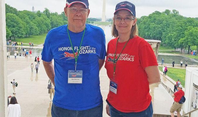 Ron Sharron's daughter, Gail Kinder, served as his sponsor.
