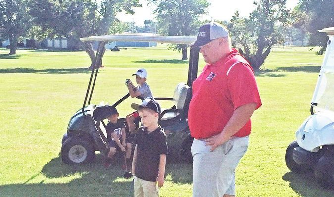 Reece Fyfe seemed to have everything under control as he led the youngest group of golfers Friday.