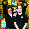Tammy Stafford, left, store manager, with Michael Rodrock, lead sales associate