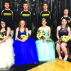 Homecoming court:  (l to r):  Juniors Chassidy Lugeanbeal and Jayse Muncy, sophomores Lauryn Muncy and Skylor Horton, seniors Kaylie Sappington and Zeb Medley, freshmen Haley Lowry and Noah Malboeuf, flower girl Claire McGee, and crown bearer Payton Crawford. photos courtesy of Lou Ann Sappington