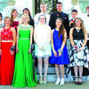 Senior Class of 2016 in attendance for the promenade before the dance: Front: Haleigh Gray, Katie Marshall, Victorica Kirsch, Sarah Edwards, Kelly Morrow. Back: Kati Jones, Gabby Hayes, Mikayla Adams, Tyler Hembree, Tristan Long, Nolan Burns and Zach Tullock.