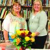 LaNita Hackney and Joyce Alexander enjoy the reception given in their honor.