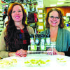 Laura Johnson, left and Doris Johnson, right, demos Sneaky Greens at a local Springfield store.