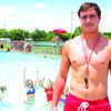 Jerritt Esposito is the water aerobic instructor.