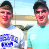 Austin Campbell (left) and Blake Moreland (right).Congratulations to Austin Campbell on breaking the state record by catching a 2-pound, 1-ounce white crappie with a trotline on an irrigation pond in Cass County.