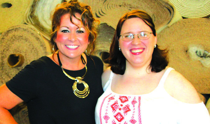 Left to right, Tonya Card Evans and Anna Lee