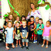 Round Grove Baptist Church welcomed these three year olds to preschool. Front, left to right: Lucy Poirot, Khloe Botts, Jace Bowden. Back: Titus Horn,  Riley Schubert (student aide), Tara Campbell, Cambree Hawks, Nelson Charles, Cooper Stockton, JJ Engle, Lucy Lusk. Kelley Meyer, teacher. not pictured: Ryder Freitag. photo by Cletis McConnell, Vedette Reporter.