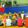 Skeeter the Clown from Culpepper and Merriweather Circus entertains students at Greenfield Elementary.